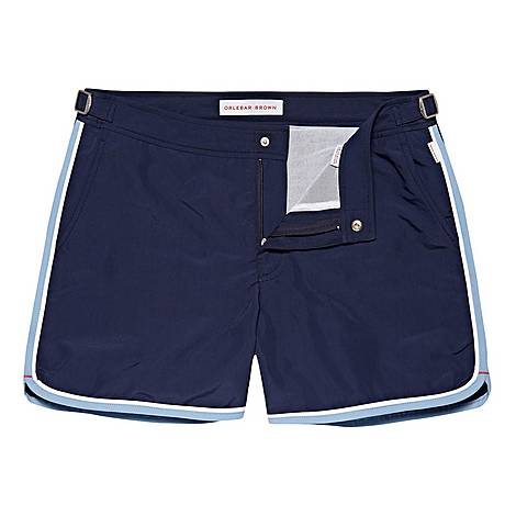 Bulldog Setter Binding Swim Shorts, ${color}