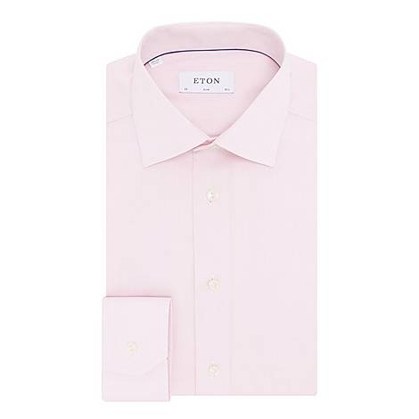 Slim Double Twill Shirt, ${color}