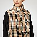 Check Puffer Gilet, ${color}