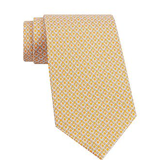 Hoop Print Silk Tie