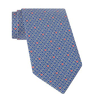 Pack of Cards Print Silk Tie