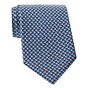 Abstract Floral Print Tie, ${color}