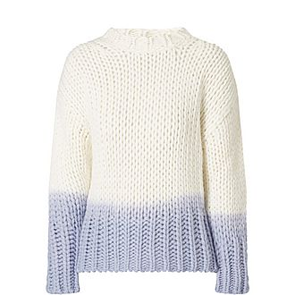 Dip-dyed Knitted Sweater