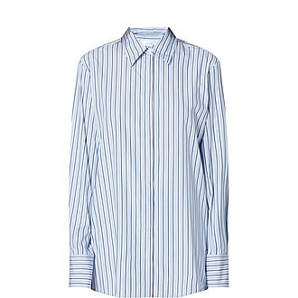 Open-back Stripe Shirt