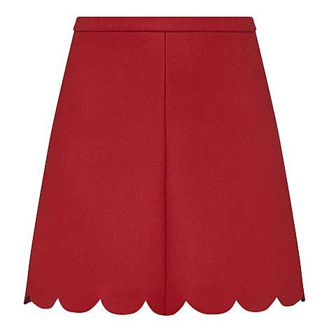 Scallop Hem Skirt, ${color}