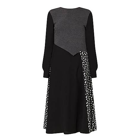 Knit Cut-Up Dress, ${color}