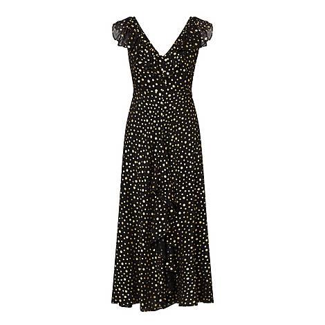 Black Antonette Star Print Dress, ${color}