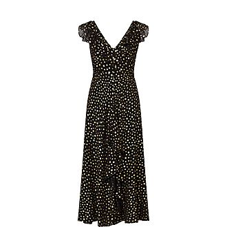 Black Antonette Star Print Dress