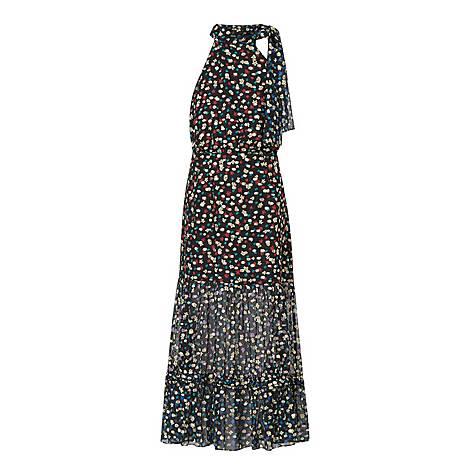 Elanor Silk Floral Print Midi Dress, ${color}