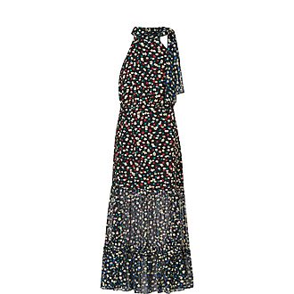 Elanor Silk Floral Print Midi Dress
