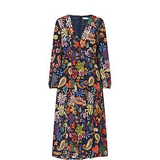Camellia Printed Midi Dress