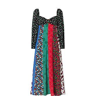 Ivy Floral Print Midi Dress