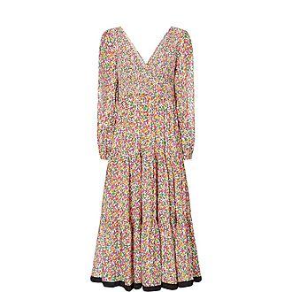 Brooke Floral Modal Tiered Midi Dress