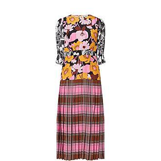Cozi Clash Print Maxi Dress