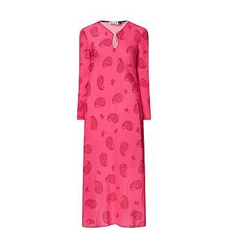 Rae Paisley Silk Maxi Dress