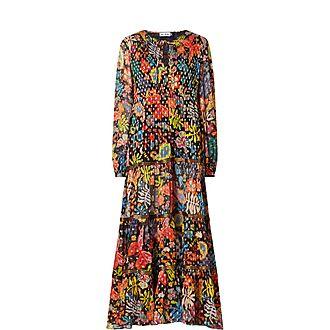 Lori Floral Print Tiered Maxi Dress
