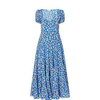 Tamara Floral Print Midi Dress