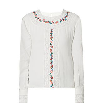 Rachel Embroidered Floral Top