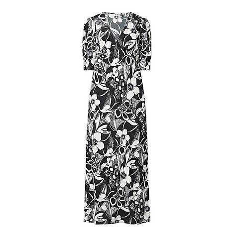 Zadie Floral Swirl Print Maxi Dress, ${color}