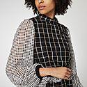 Felisa Check Print Midi Dress, ${color}