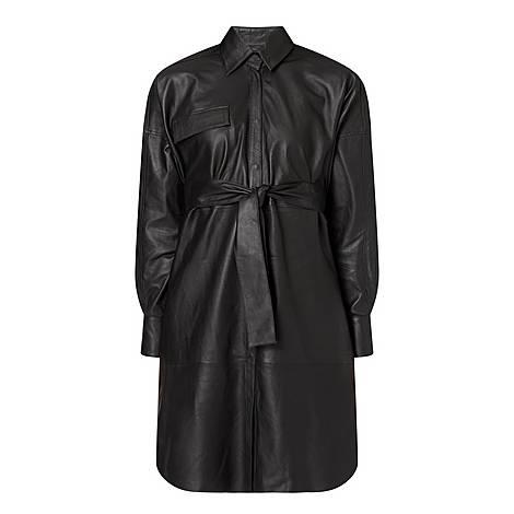 Bologna Leather Shirt Dress, ${color}
