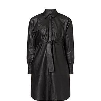 Bologna Leather Shirt Dress