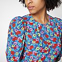 Katarina Poppy Print Knee Length Dress, ${color}