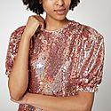 Katie Sequinned Mini Dress, ${color}