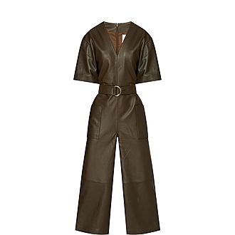 Dalmine Leather Jumpsuit