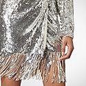 Samantha Sequin Tassel Wrap Dress, ${color}