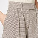Kit Checked Linen-Blend Shorts, ${color}