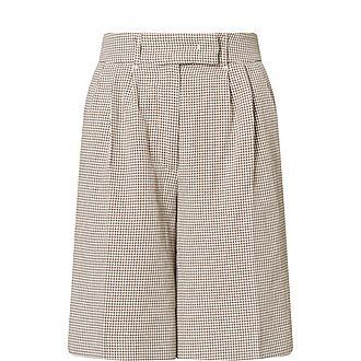 Kit Checked Linen-Blend Shorts
