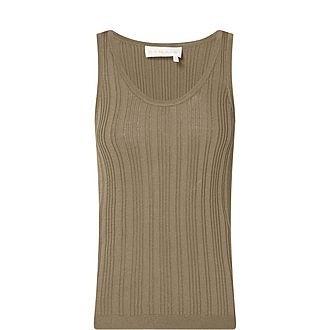 Gere Ribbed Sleeveless Top