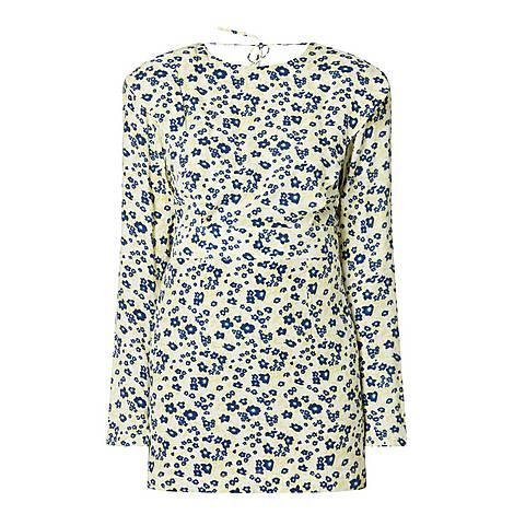 Wanda Daisy Print Mini Dress, ${color}