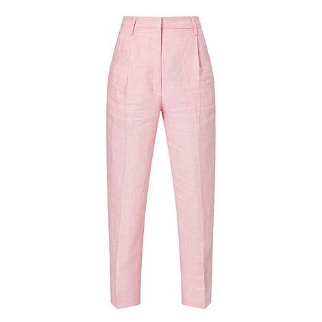 Paris Linen Wide Leg Trousers, ${color}