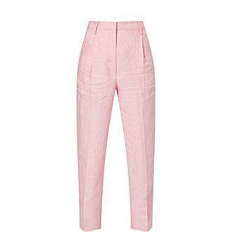 Paris Linen Wide Leg Trousers