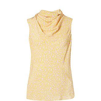 Rosette Silk Shell Top