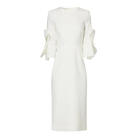 Bow Sleeved Midi Dress, ${color}