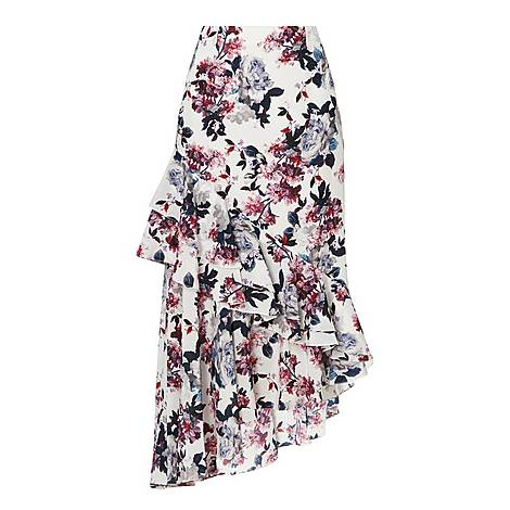 Asymmetric Midi Skirt, ${color}