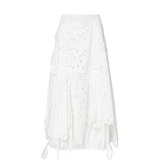 Broderie Anglaise Cotton Maxi Skirt