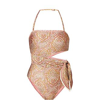 Paisley Cut-Out Swimsuit
