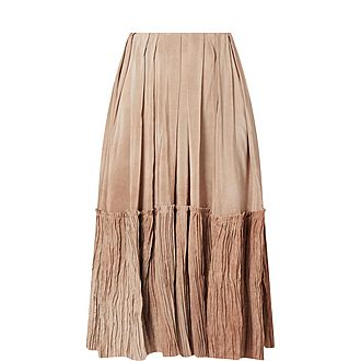 Remy Cotton Flared Midi Skirt