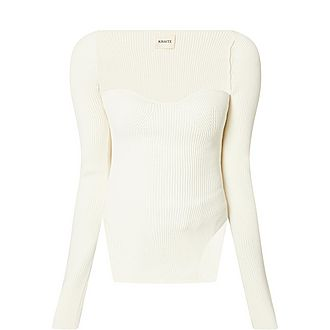 Maddy Ribbed Knit Bodysuit