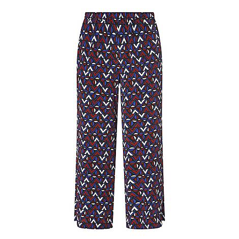 Abstract Print Silk Trousers, ${color}