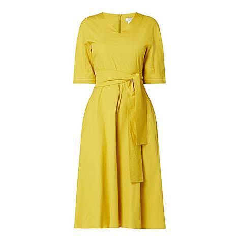 Lea Cotton-Blend Midi Dress, ${color}