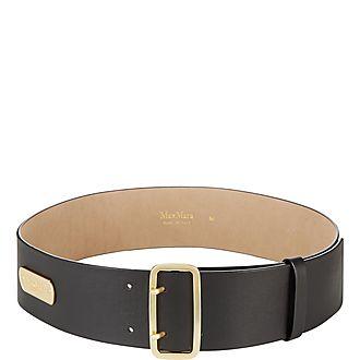 Zuppa Wide Leather Belt