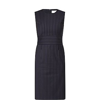 Dometa Pinstripe Sleeveless Dress