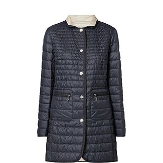 Reversible Quilted Longline Coat