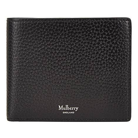Grained Leather Billfold Wallet, ${color}
