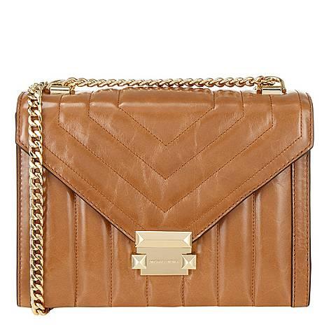 Whitney Quilted Large Shoulder Bag, ${color}